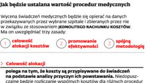 Jak będzie ustalana wartość procedur medycznych