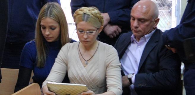 Julia Tymoszenko w sądzie.