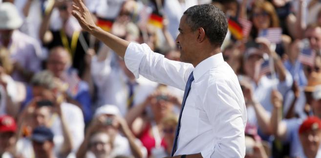 Obama w Niemczech pod Bramą Brandenburską