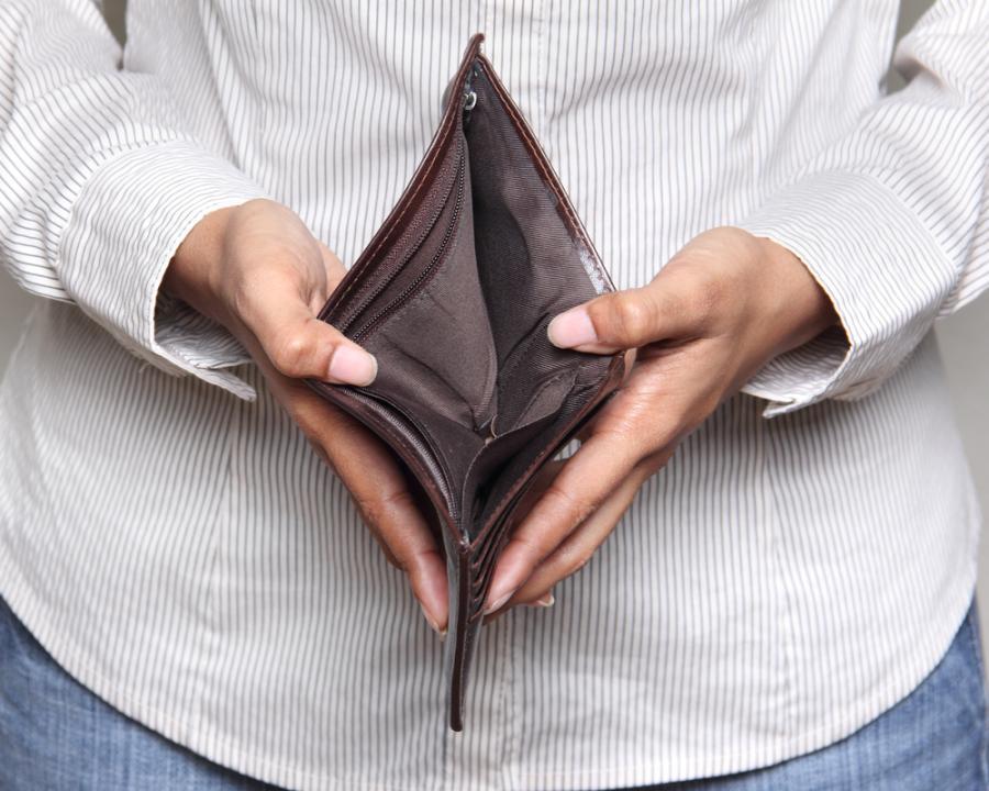 dług, pieniądze, portfel