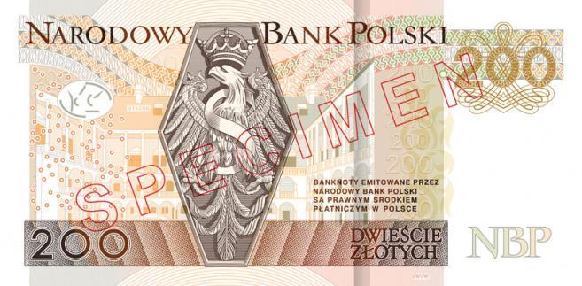 Wzór banknotu 200 zł