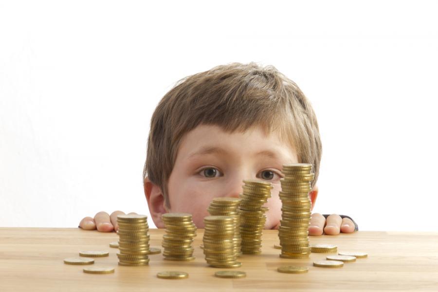 dziecko pieniądze
