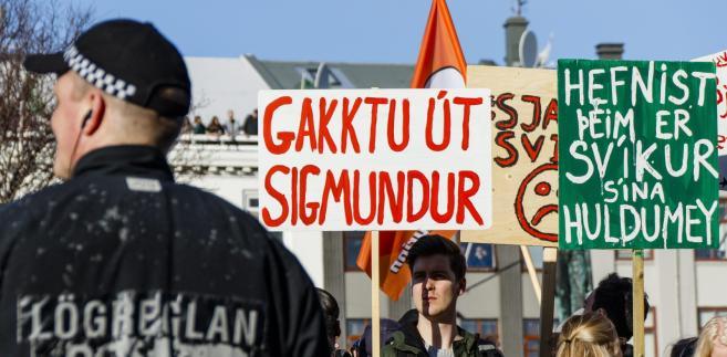 Islandia: Protest przeciwko premierowi w związku z aferą Panama Papers