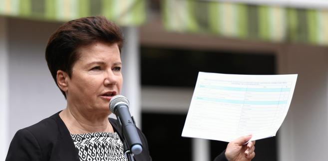 Prezydent Warszawy Hanna Gronkiewicz Waltz