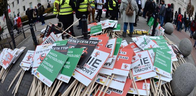 Protest przeciwko CETA