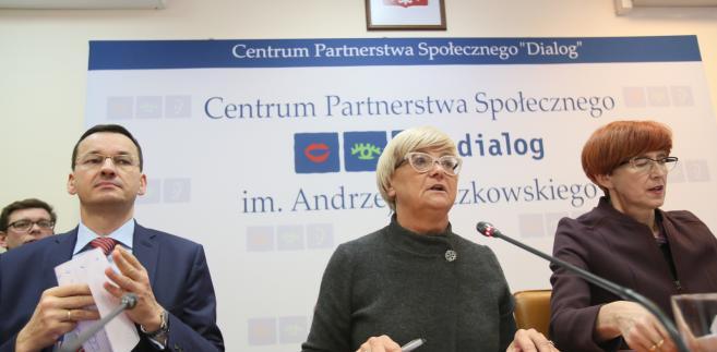 Mateusz Morawiecki, Henryka Bochniarz i Elżbieta Rafalska
