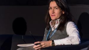 Scenarzystka Angeles Gonzalez-Sinde podczas Europejskiej Konferencji Filmowej.