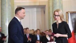 Prezydent Andrzej Duda powołuje Teresę Czerwińską  na stanowisko ministra finansów.