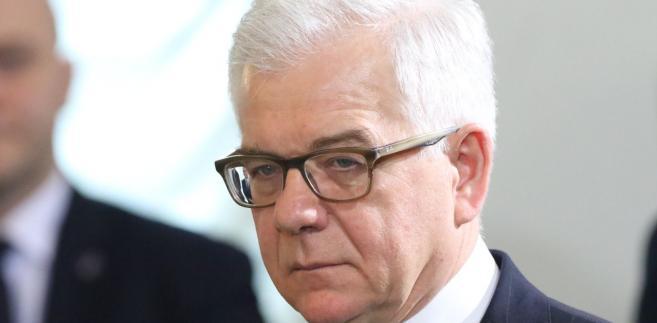 Jacek Czaputowicz, minister spraw zagranicznych