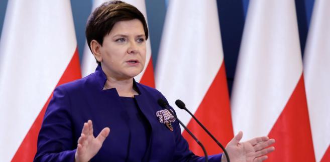 Wicepremier Beata Szydło