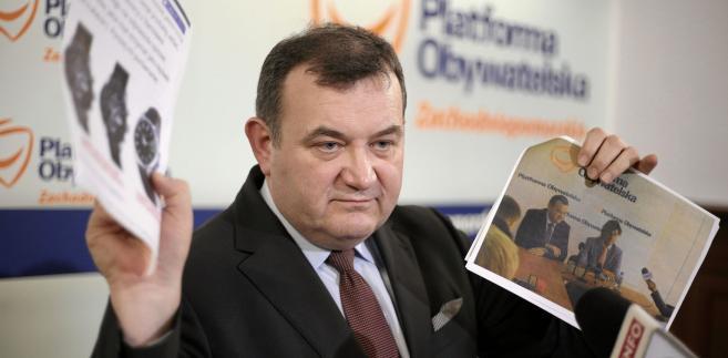 CBA zatrzymało formalnie sekretarza generalnego i posła PO Stanisława Gawłowskiego
