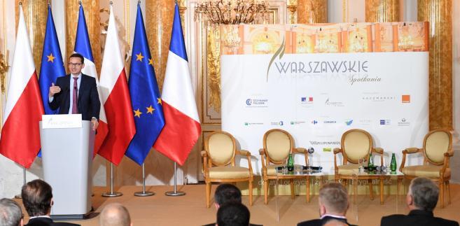 Premier Mateusz Morawiecki przemawia podczas Polsko-Francuskiego Forum Ekonomicznego