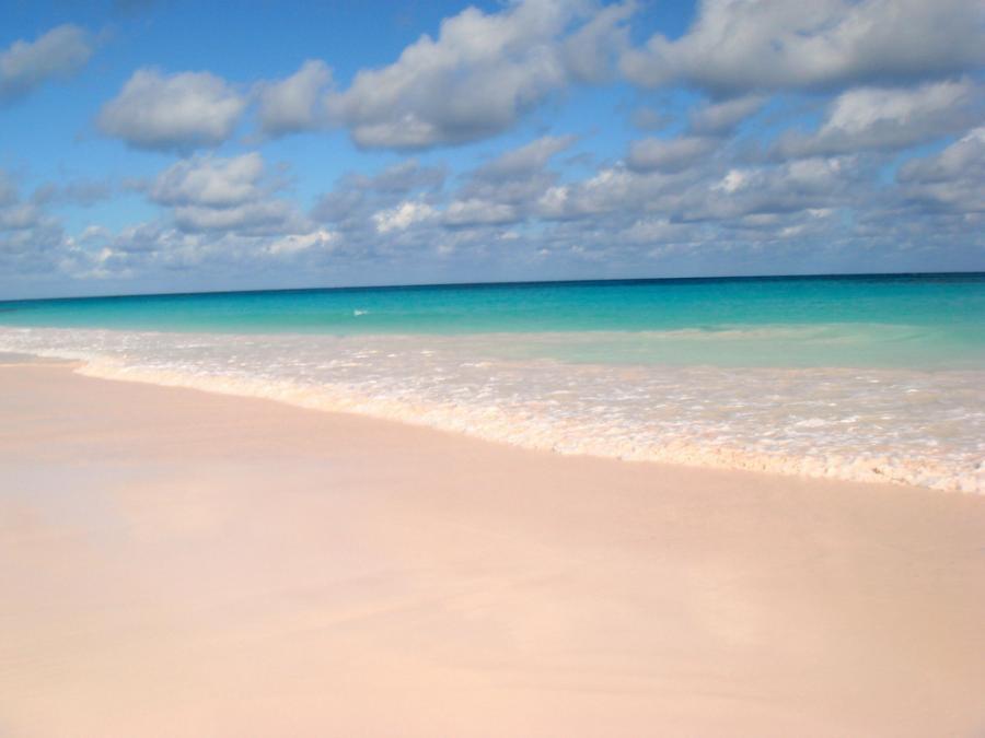 Pink-sand beaches