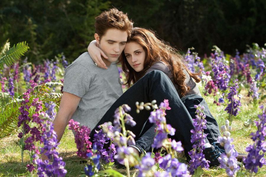 """Kristen Stewart i Robert Patinnson w filmie Saga """"Zmierzch"""": Przed świtem. Część 2"""