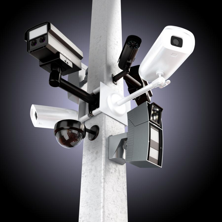 ochrona, kamery, monitoring