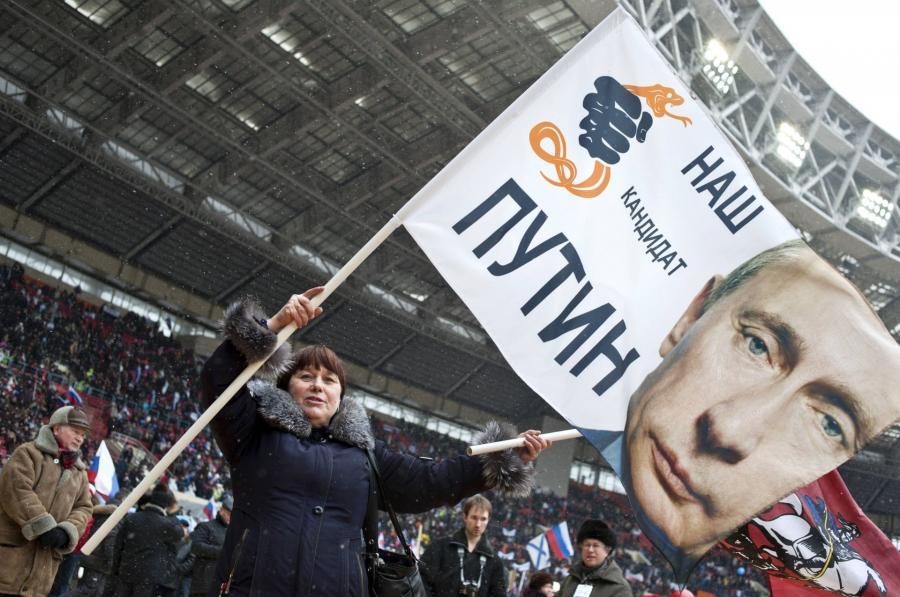 na plakacie Władimir Putin