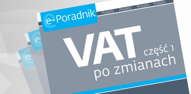 e-book: VAT część 1 po zmianach