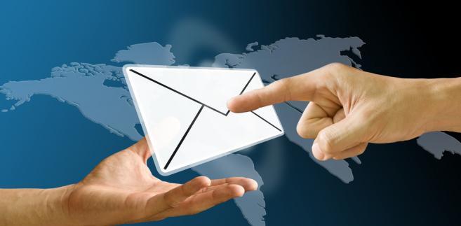 list, dłonie, poczta