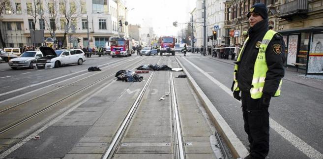 Wypadek tramwaju w Łodzi