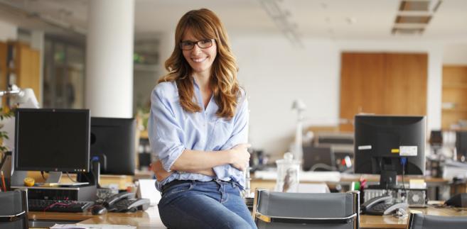 biuro, praca, kobieta