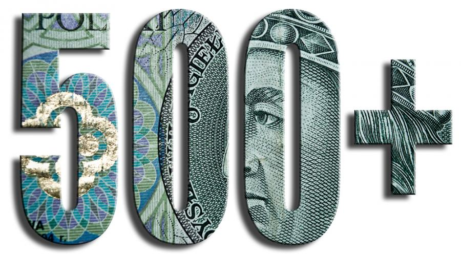 500+ pieniądze