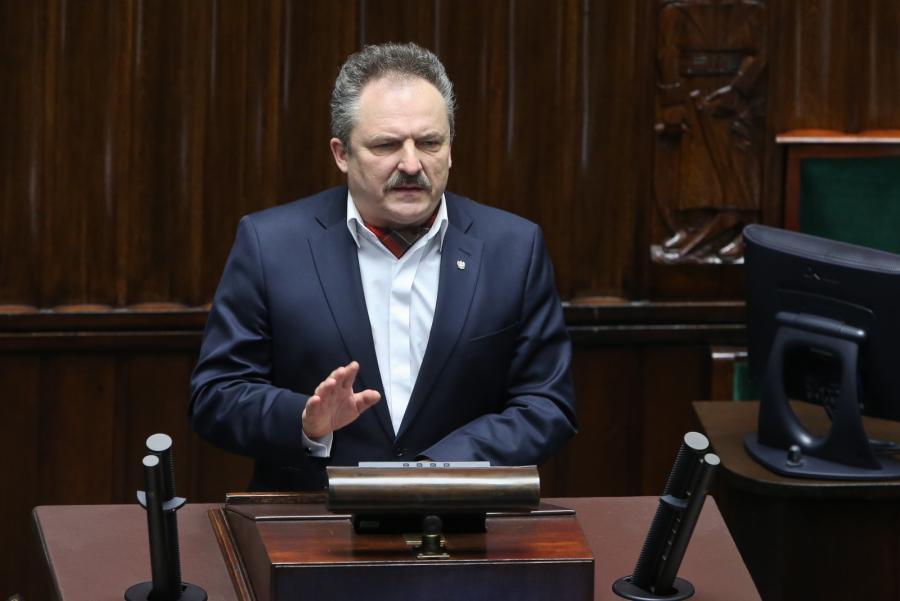 Wiceszef klubu Kukiz'15 Marek Jakubiak, podczas sejmowej debaty nad złożonym przez klub Kukiz'15 projektem zmian w konstytucji