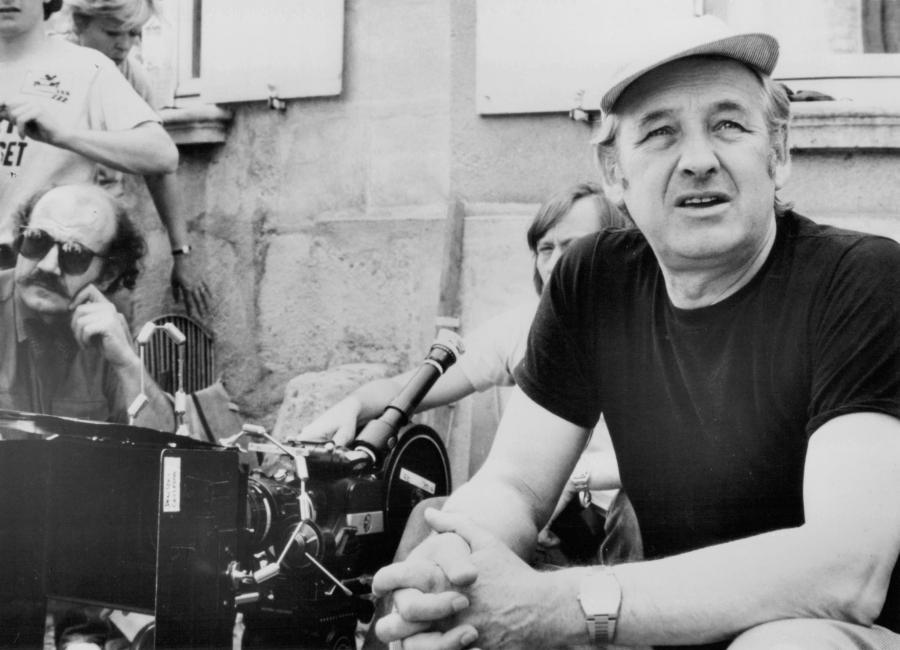 """Andrzej Wajda na planie filmu """"Danton"""" (1983)"""