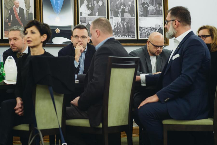 Spotkanie w Senacie z przedstawicielami mediów
