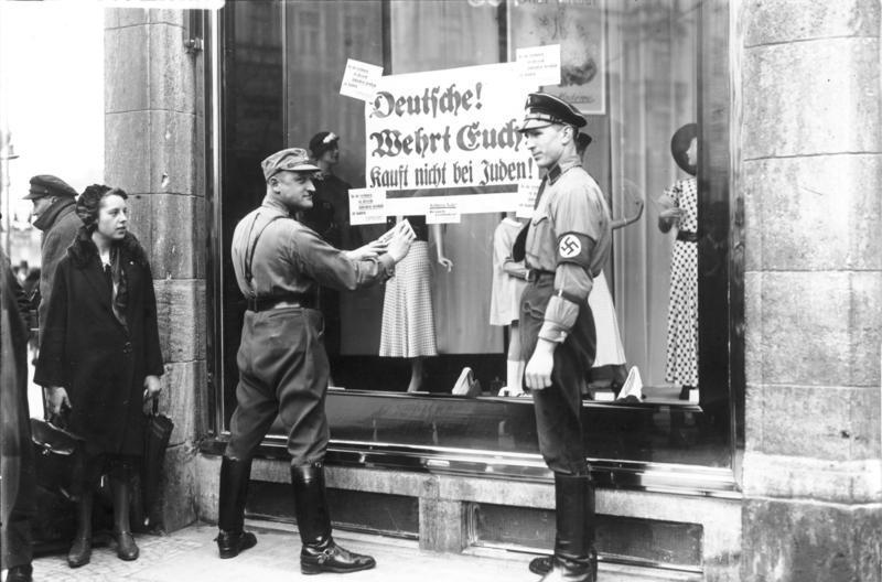 Bojkot NSDAP żydowskich sklepów, 1 kwietnia 1933