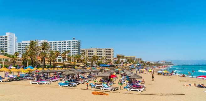Benalmadena, Malaga, plaża, Hiszpania, lato, wakacje