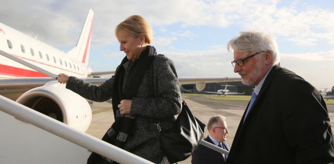 Minister spraw zagranicznych RP Witold Waszczykowski i minister spraw zagranicznych Szwecji Margot Wallstrom