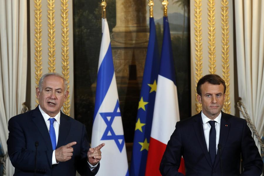 Emmanuel Macron i Benjamin Netanyahu