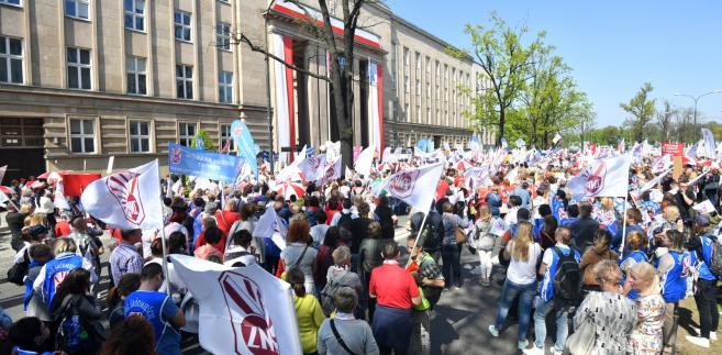 Manifestacja ZNP