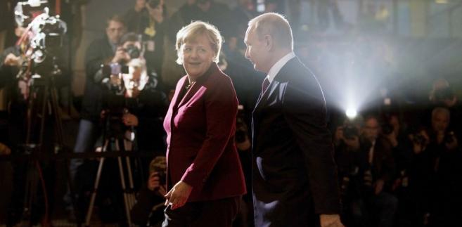 Stosunki Angeli Merkel z Władimirem Putinem odwzorowują mniej więcej relacje sił obu krajów