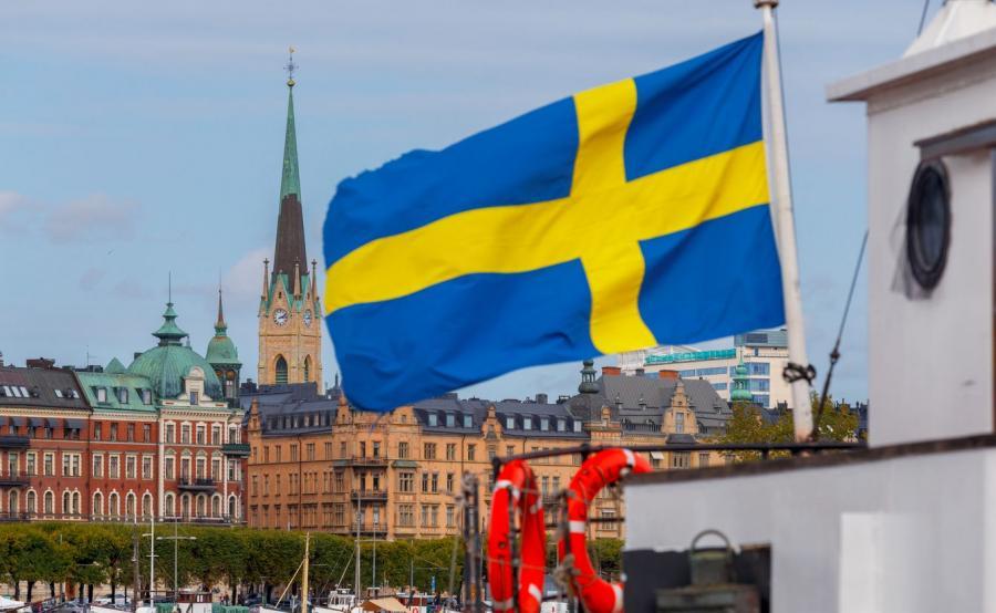 Sztokholm, flaga Szwecji