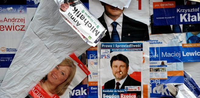 Znalezione obrazy dla zapytania: plakaty wyborcze na ulicach 2019 - zdjęcia