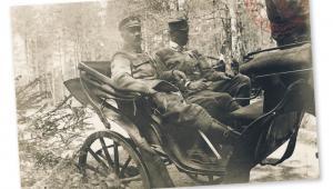 Józef Piłsudski wraca z inspekcji 4. Pułku Piechoty Legionów Polskich, 1915 r.