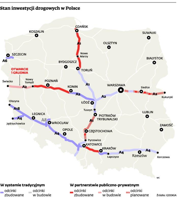 Stan inwestycji drogowych w Polsce